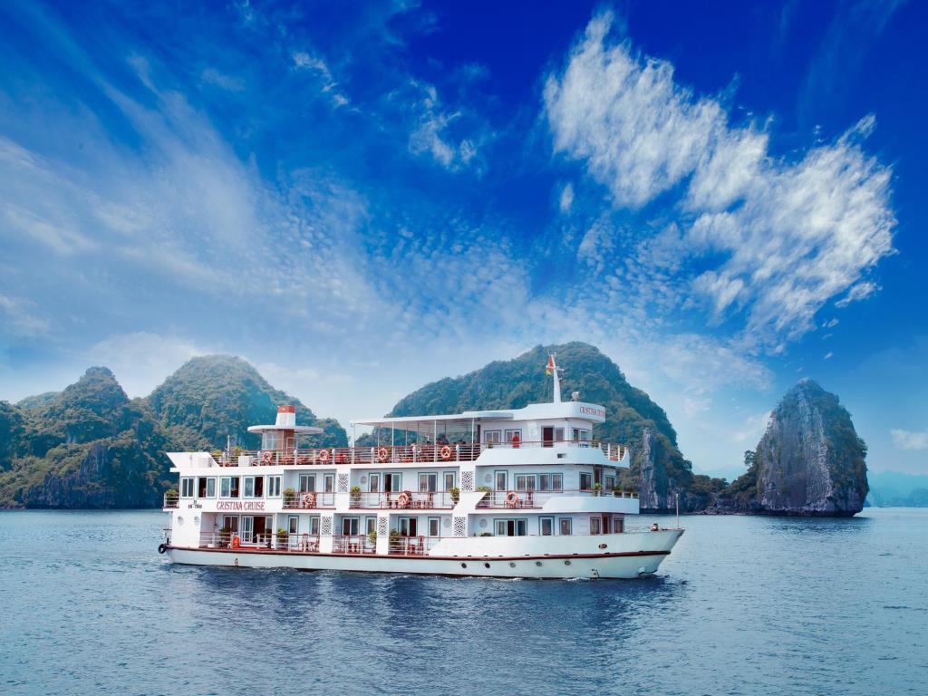 Tour du thuyền Hạ long Cristina Diamond 4 sao 2 ngày 1 đêm