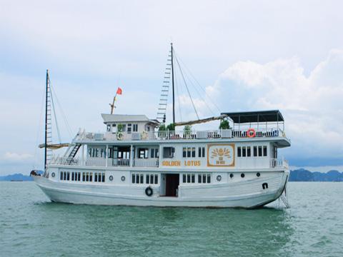 Tour Hạ long 2 ngày 1 đêm Du thuyền Golden Lotus 3 Sao Ngủ Du thuyền